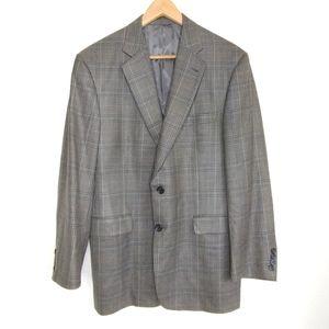 Burberry London Kensington Silk Wool Blend Blazer